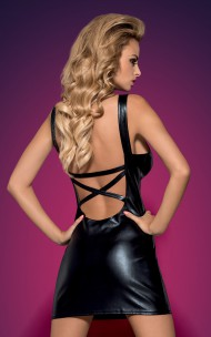Obsessive - Darksy Leather Dress